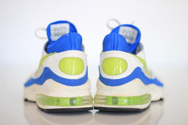 Nike Air Max 93 White/Laser Lime/Royal Blue
