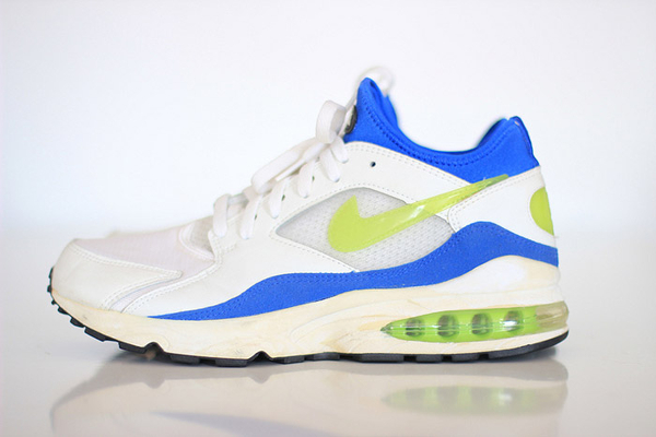 Nike Air Max 93 White/Laser Lime/Royal Blue