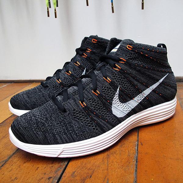 Nike Lunar Flyknit Chukka Midnight Fog/Total Orange