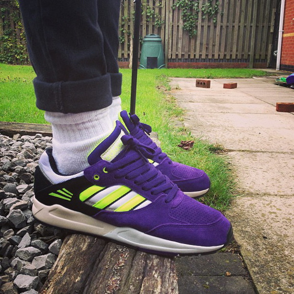 Adidas Tech Super White/Electric Yellow/Purple - Size official