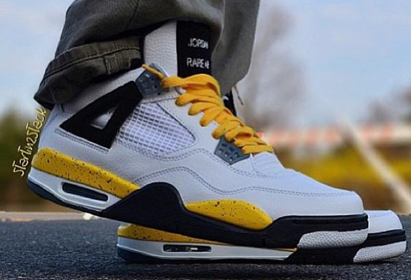 Air Jordan 4 White/Tour Yellow - Heatlocker