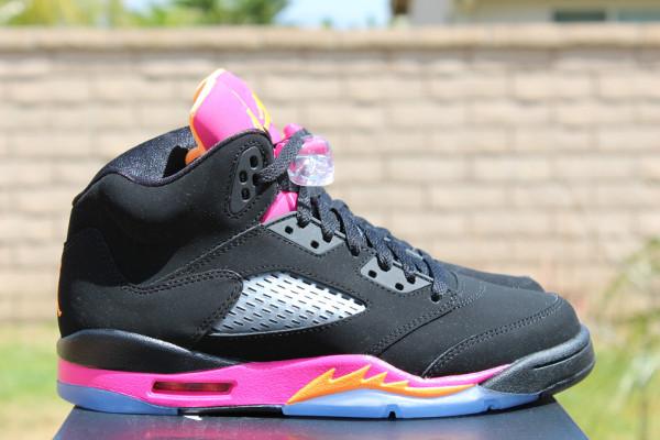 design de qualité d2b2d 66d7f Air Jordan 5 noir & rose - basket pour femme