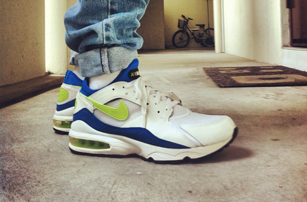 Nike Air Max 93 White/Laser Lime/Royal Blue - Rvdolf