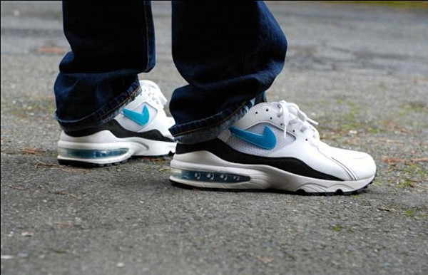 Nike Air Max 93 white/lazer blue-black - Lemon Diesel