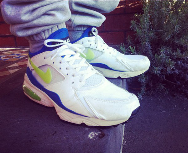 Nike Air Max 93 White/Laser Lime/Royal Blue - Max Griffin