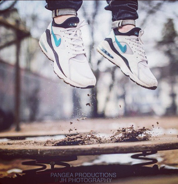 Nike Air Max 93 white/lazer blue-black - Pangea