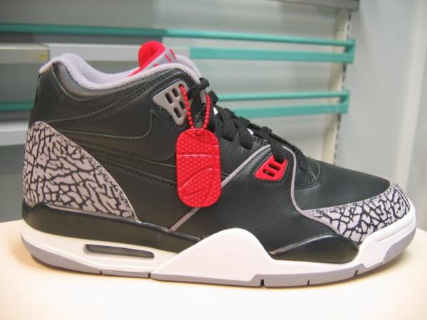 Nike Air Flight 89 Black & White Cement