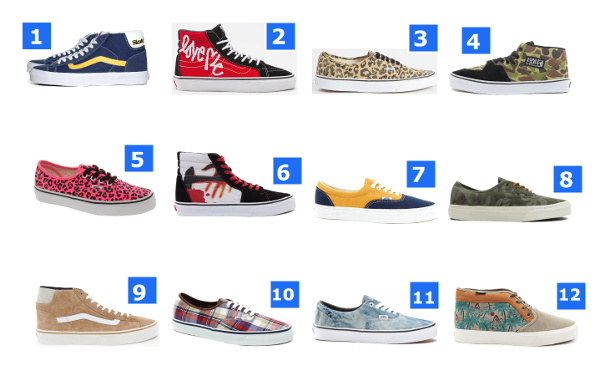 Vans Era, Authentic, Mid Skool : 12 paires en soldes (été 2013)