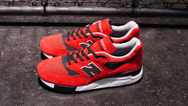 New Balance 998 Red Suede