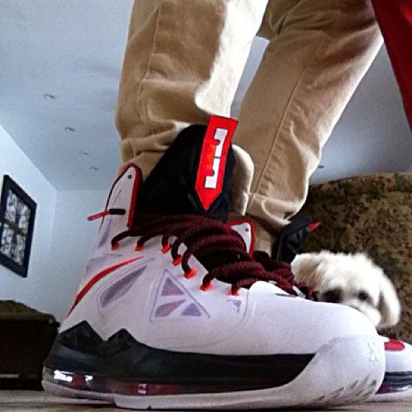 Nike Lebron 10 White/University Red - Blake Woods