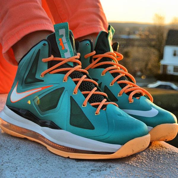 Nike Lebron 10 Miami Dolphins - -Britta_ruth920