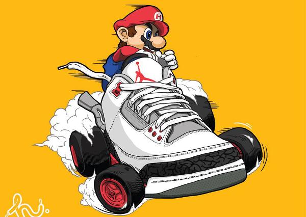 Mario Kart x Air Jordan 3