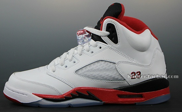 Air Jordan 5 Fire Red White/Red/Black
