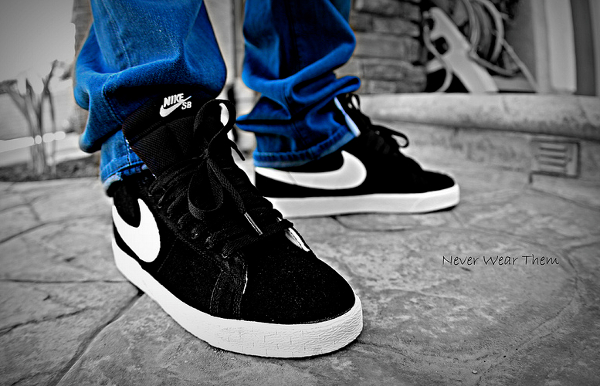 nike-blazer-sb-black-white-Never Wear Them