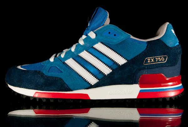 adidas zx 750 bleu blanc rouge