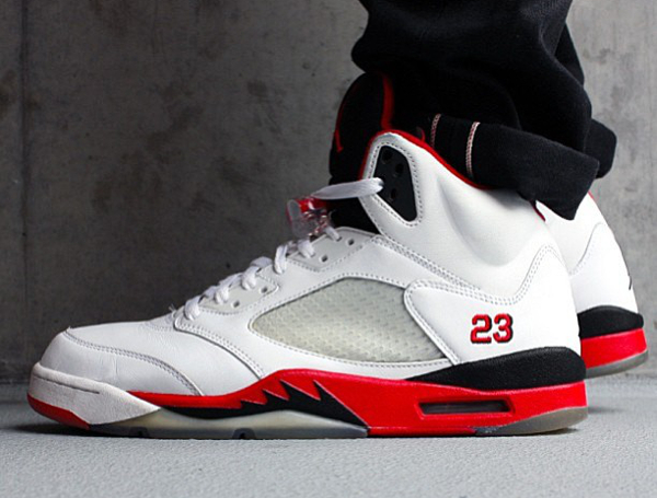 reputable site 49e87 fc20d air-jordan-5-retro-fire-red-black-tongue-