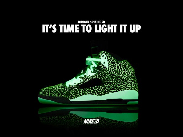 Air Jordan Spizike ID Glow In The Dark