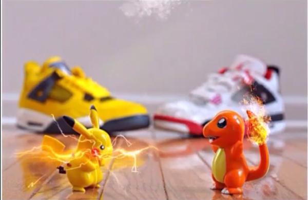 Combat de pokémons sous fond de Jordan