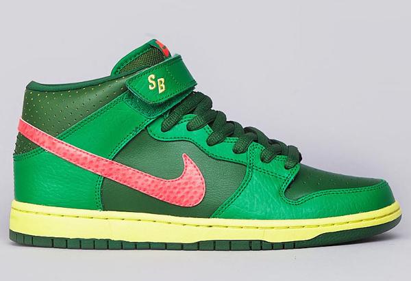 Nike Dunk Mid Pro SB Green Lucky