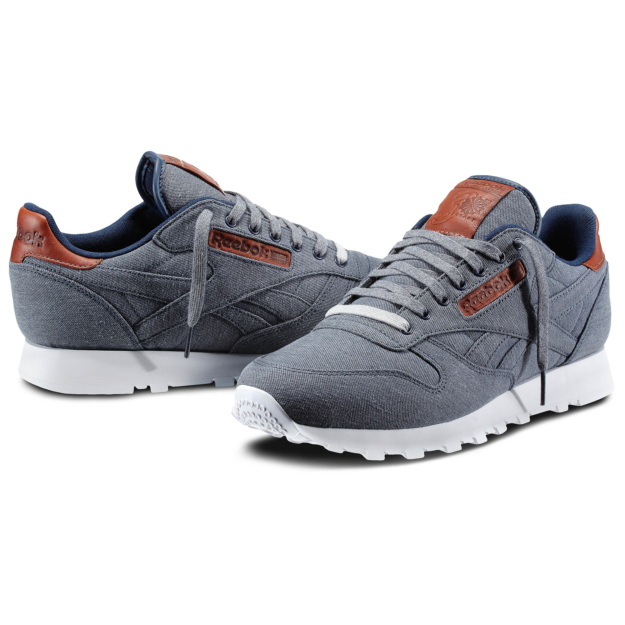 reebok classic leather selvage denim for women