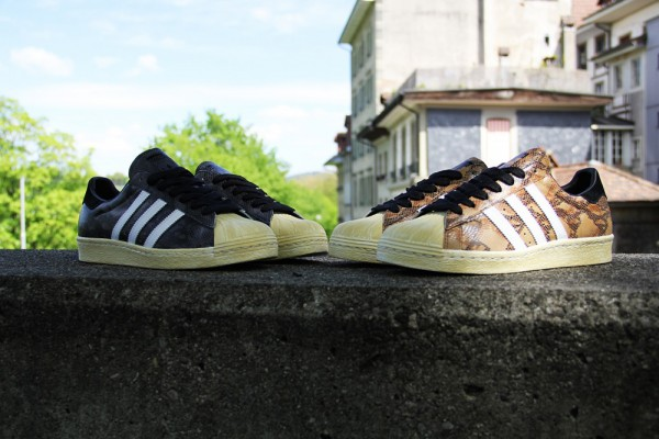 Adidas Superstar 80's Snake Black & Wheat