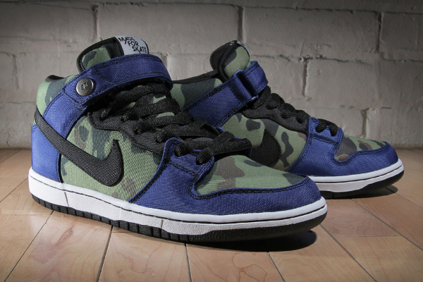 "Nike SB Dunk Mid ""Camo"" x Made for Skate"