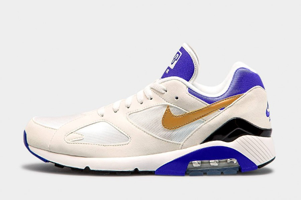 Nike Air Max 180 QS - Summit White/Metallic Gold-Bright Concord