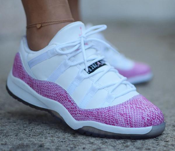 Air Jordan 11 Low Pink Snake - Lynaboos