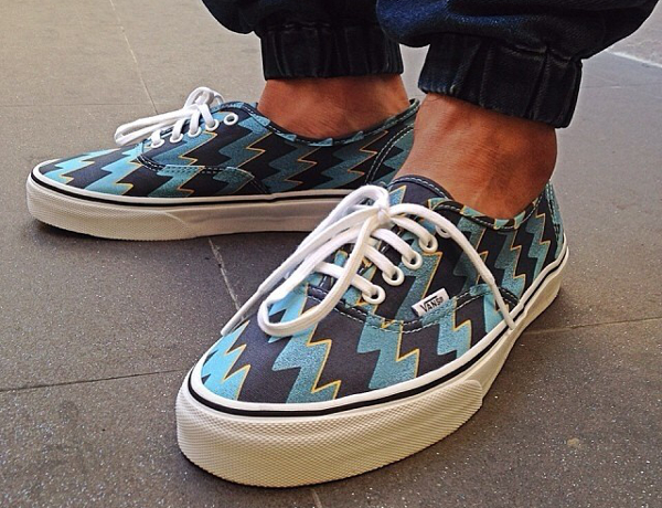 Vans Authentic x kenzo Blue Lightning Bolts - Cacal