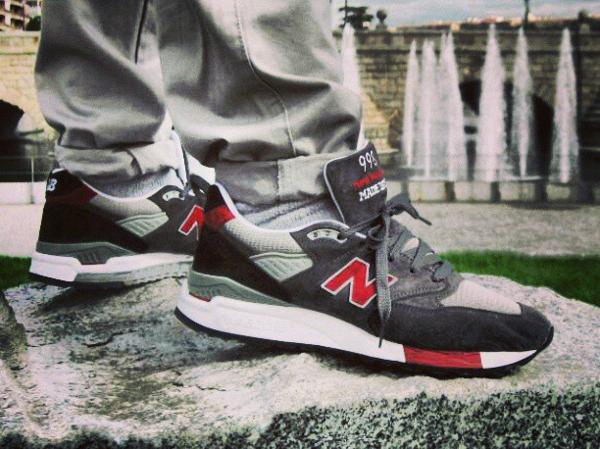New Balance 998 Grey Red - Infamousgdeep