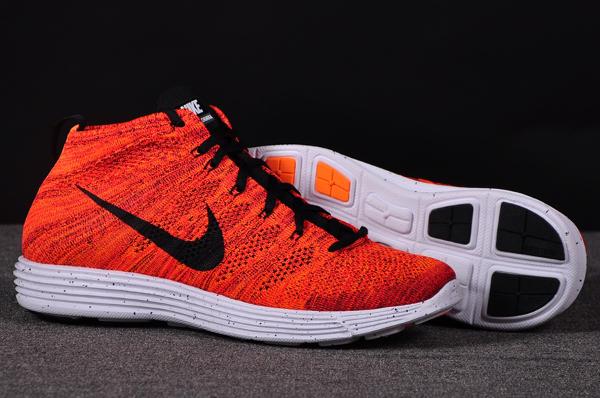 Nike Lunar Flyknit Chukka Bright Crimson Orange (1)
