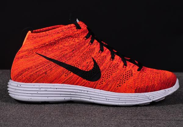 Nike Lunar Flyknit Chukka Bright Crimson Orange (2)
