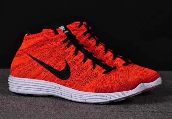 Nike Lunar Flyknit Chukka Bright Crimson Orange (3)