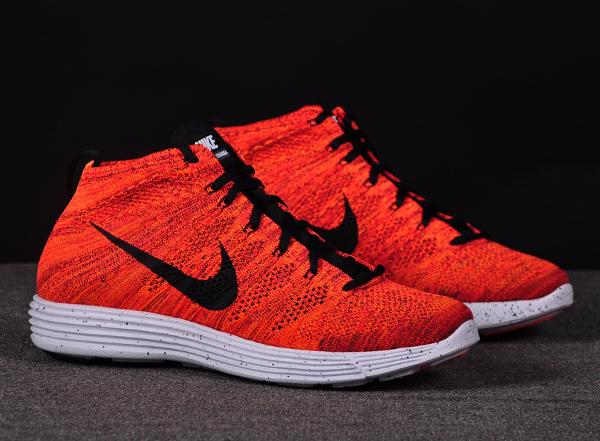 Nike Lunar Flyknit Chukka Bright Crimson Orange (4)
