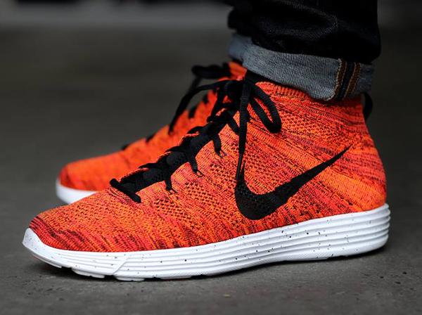 Nike Lunar Flyknit Chukka Bright Crimson Orange (5)