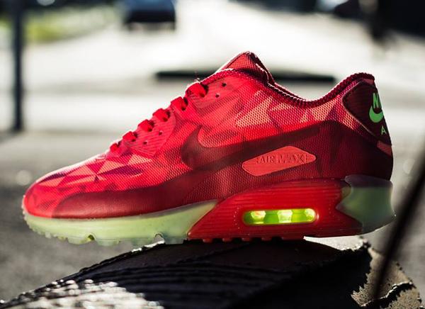 Nike Air Max 90 Ice Gym Red University Red-Lite Crimson (2)