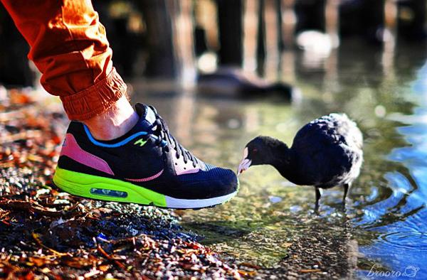 Nike Air Max Light Black Volt Vivid Blue - Brooro
