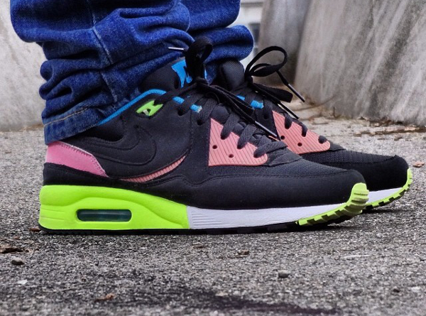 super popular 974f0 3de23 Nike Air Max Light Black Volt Vivid Blue - Urbanpeople