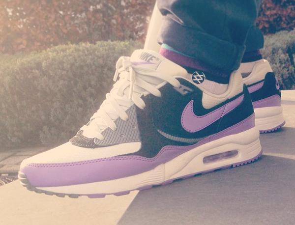 Nike Air Max Light Light Base Grey Violet Black - Dietcos