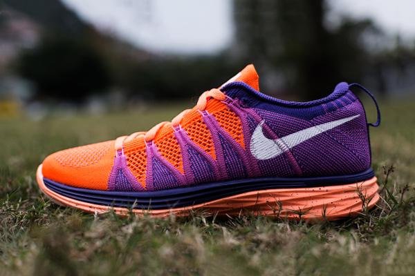 Nike Flyknit Lunar 2 Orange Purple (2)
