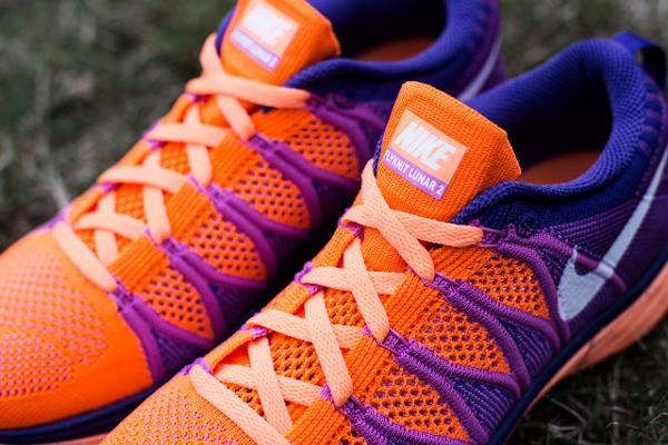 Nike Flyknit Lunar 2 Orange Purple (4)