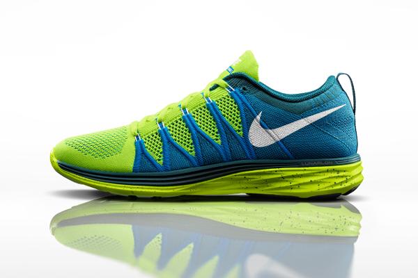 Nike Flyknit Lunar 2 Volt Blue (1)