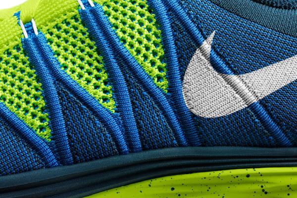 Nike Flyknit Lunar 2 Volt Blue (3)