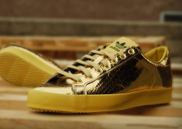 Adidas Originals Jeremy Scott Rod Laver Metallic Gold (2)