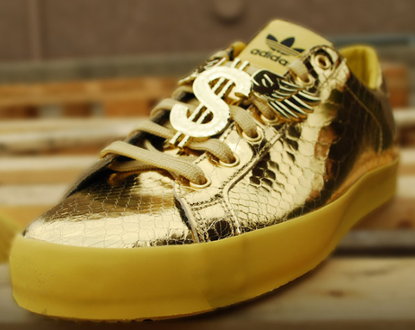 Adidas Originals Jeremy Scott Rod Laver Metallic Gold (3)