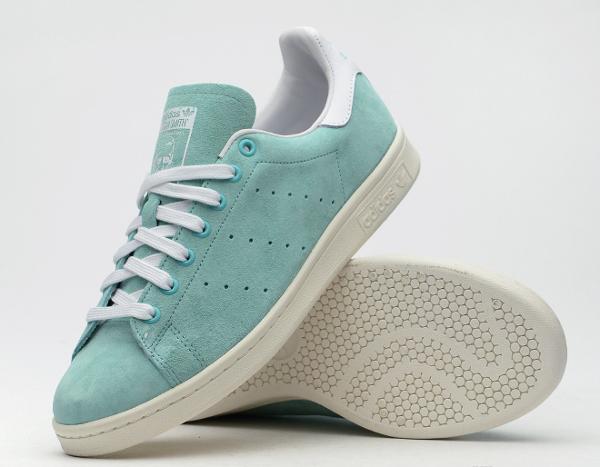 Adidas Stan Smith Suede Mint (1)