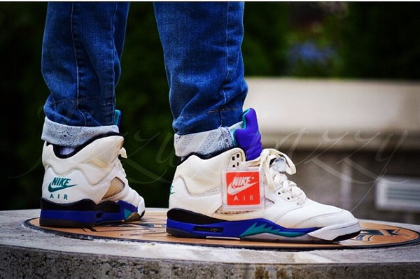 Air Jordan 5 OG Grape 1990 -Jizzumjazzy