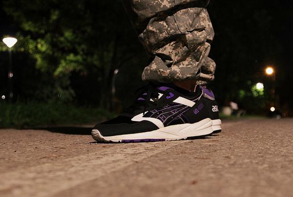 Asics Gel Saga Black White Purple -  Kolczasty_jerz