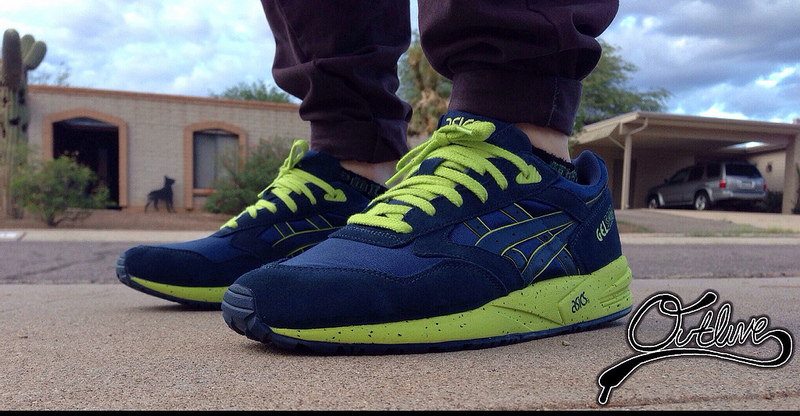 asics gel saga blue yellow