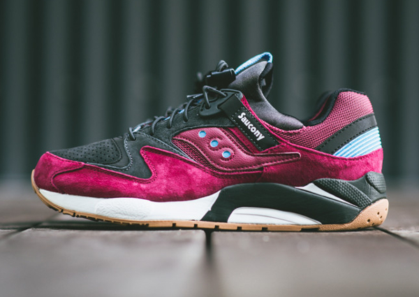 Saucony Grid 9000 Red Charcoal (2)
